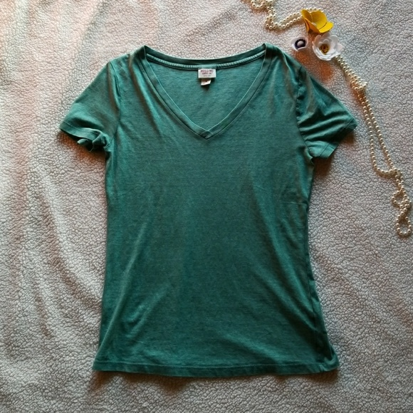 NEW Mossimo Supply Co Womens Turquoise V-neck Short Sleeve T-shirt